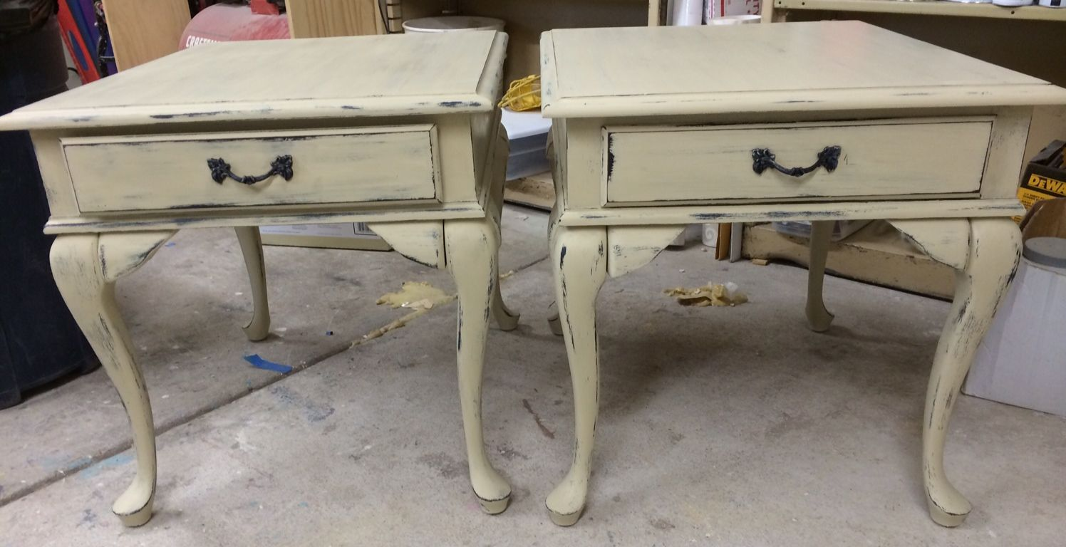 hand painted antique and vintage furniture queen anne tables rh pinterest com