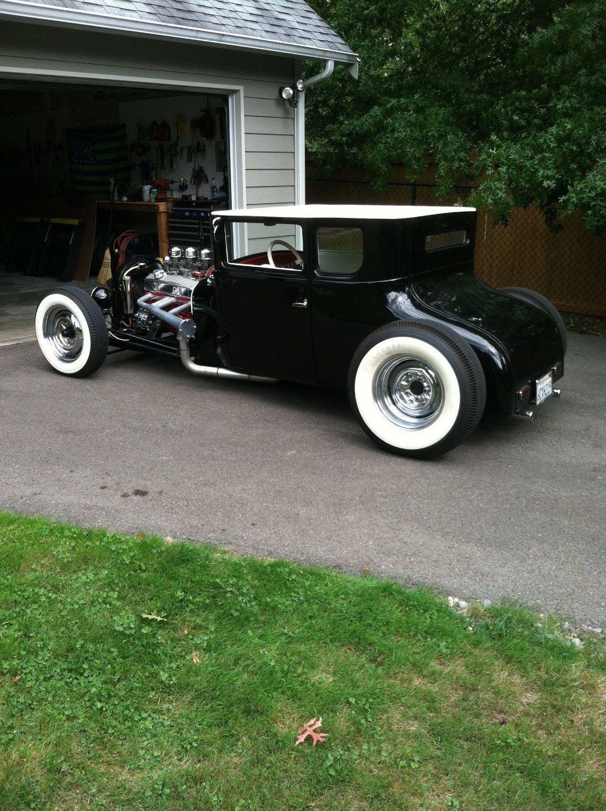 chopped black white 1926 ford model t coupe hot rod hot rods for rh pinterest com mx