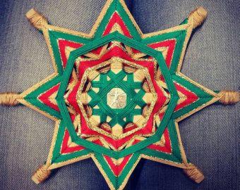 Mandala Ojo de Dios Árbol genealógico por BeHappyMandalaShop