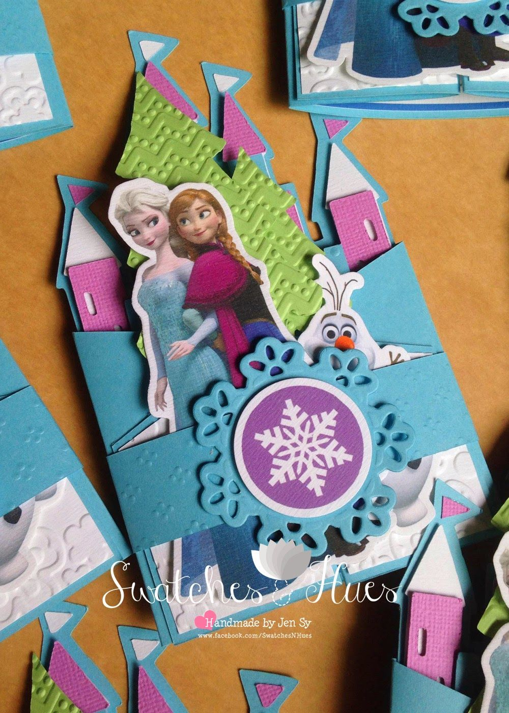handmadest birthday party invitations%0A Frozen theme gate fold invitation for a birthday party