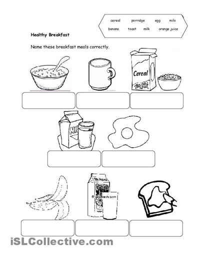 Number Names Worksheets Healthy Food Worksheets For Kindergarten