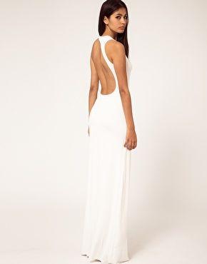 Enlarge Aqua Starbright Asymmetric Open Back Maxi Dress- want it ...