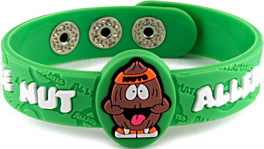Allermates Tree Nut Allergy Wristband Quot Nutso Quot Kids