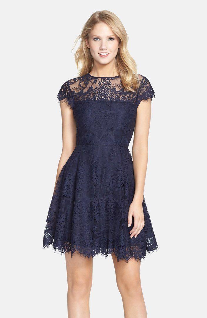 e84f251cada BB Dakota  Rhianna  Illusion Yoke Lace Fit   Flare Dress (Nordstrom  Exclusive)