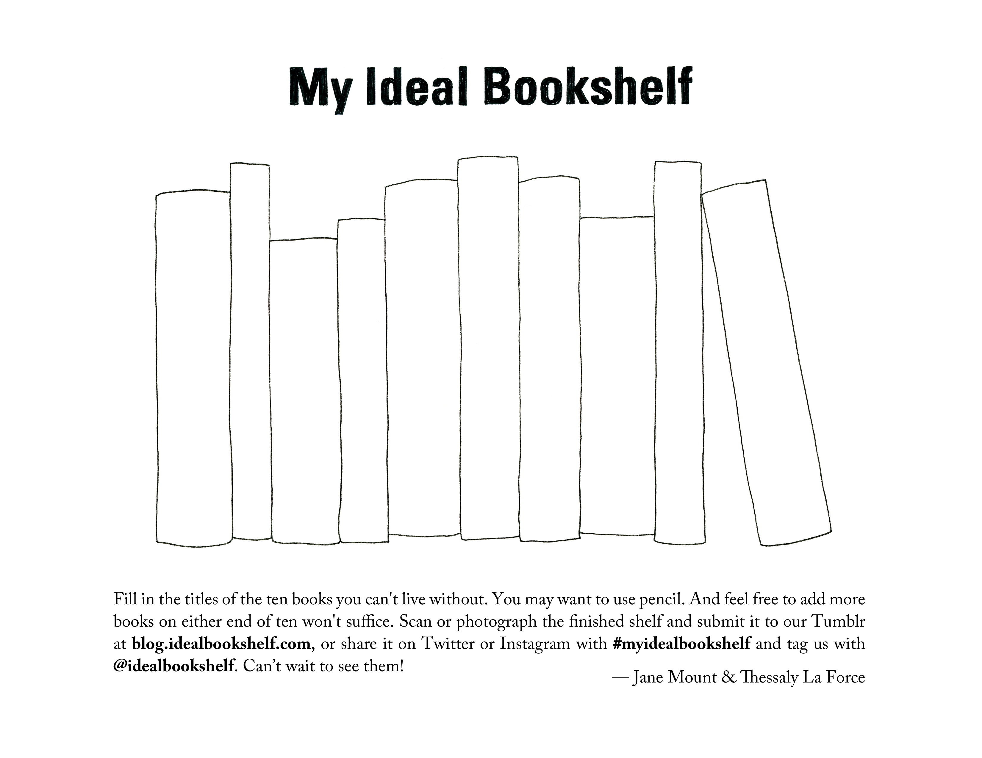 My Ideal Bookshelf Free Printable With Prompt