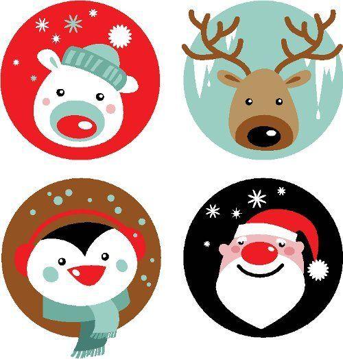 Figuras de navidad para imprimir a color