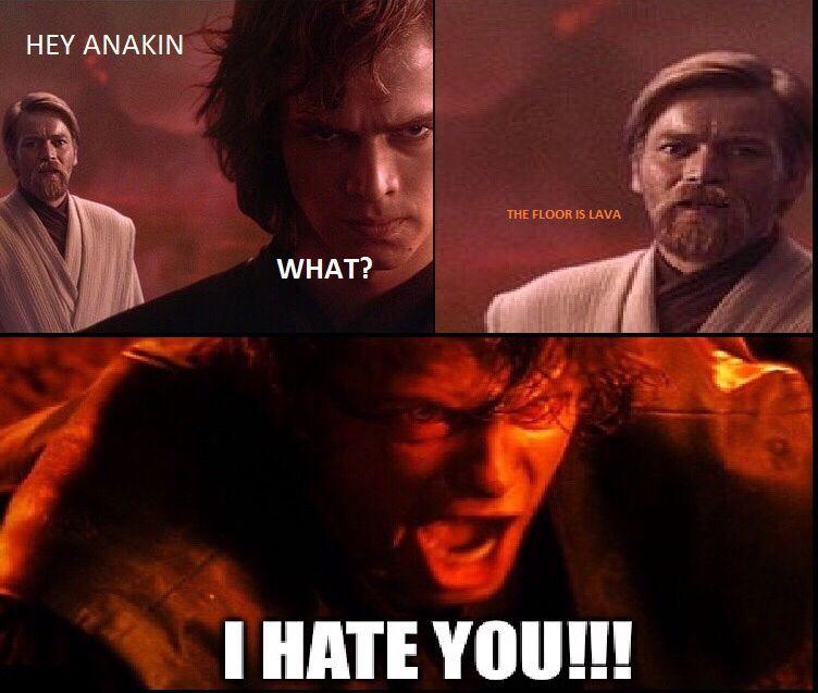 How Obi Wan Really Beat Anakin Starwars Humor Stressedoutanakin Anakinskywalker Starwarsmemes Star Wars Jokes Funny Star Wars Memes Star Wars Humor