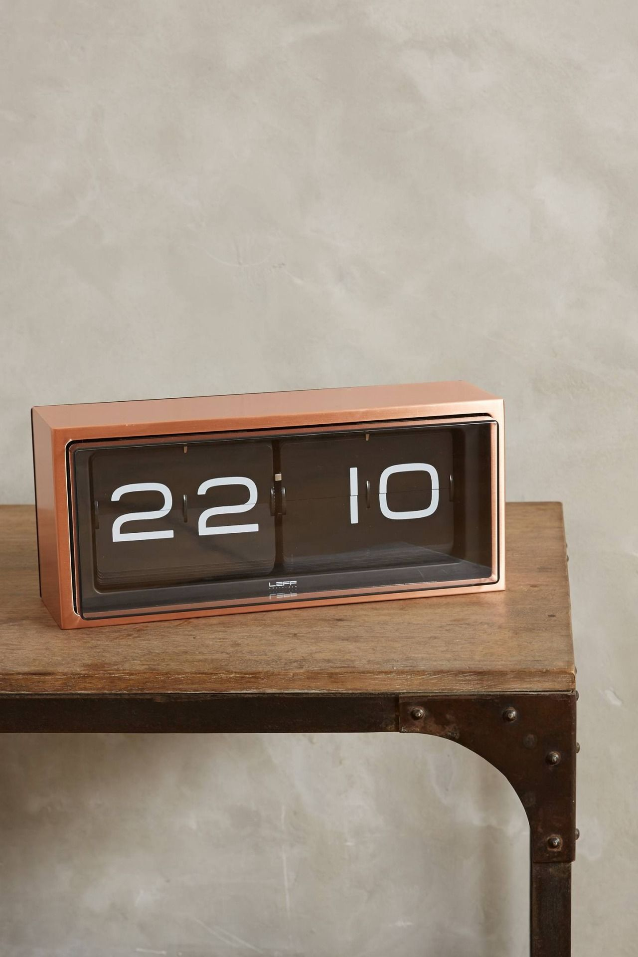 Superior LEFF Amsterdam Brick Wall/Desk Clock | Copper/Black Good Looking