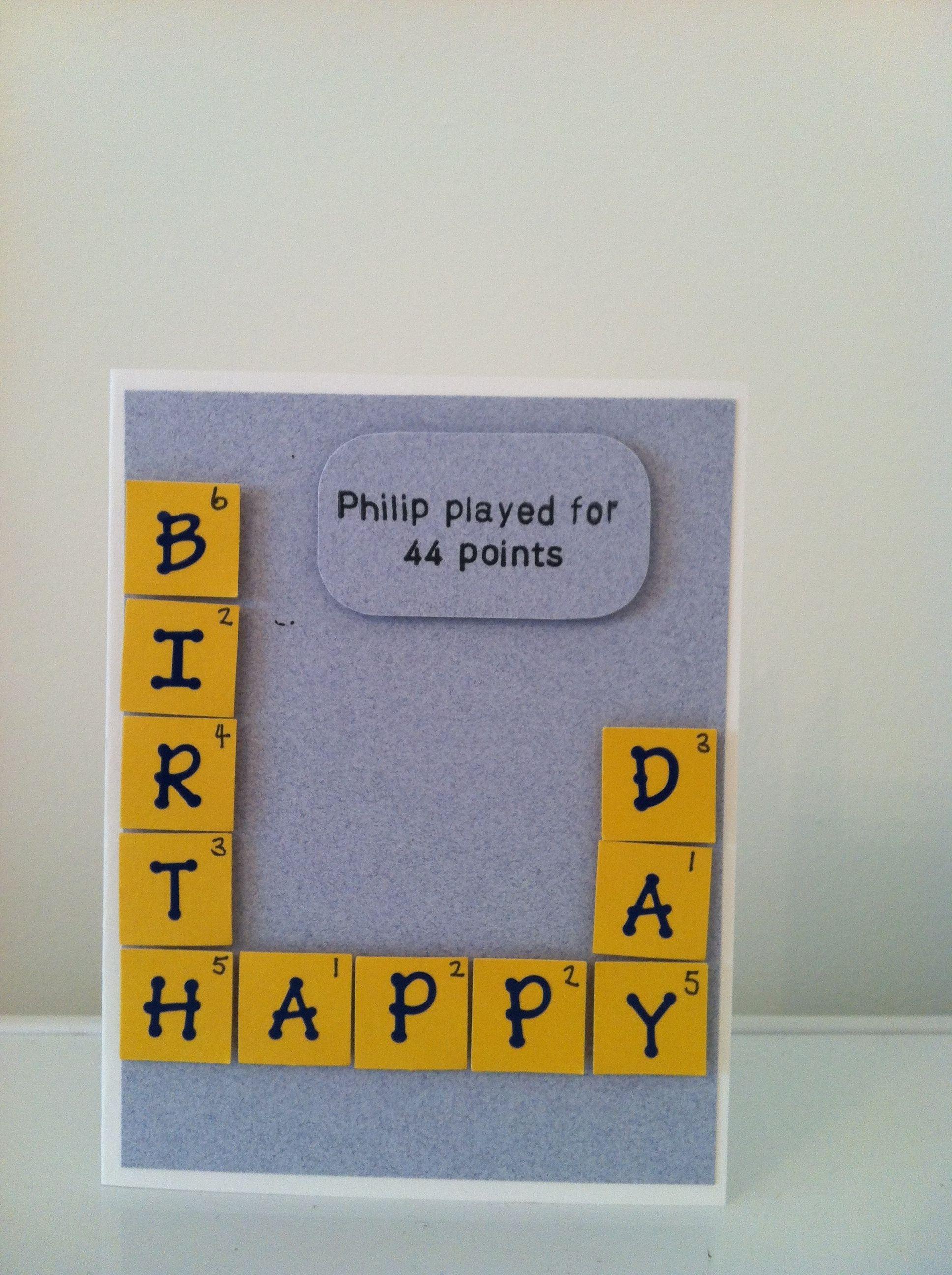 Words With Friends Birthday Card Birthday Cards For Friends Words With Friends Cardmaking