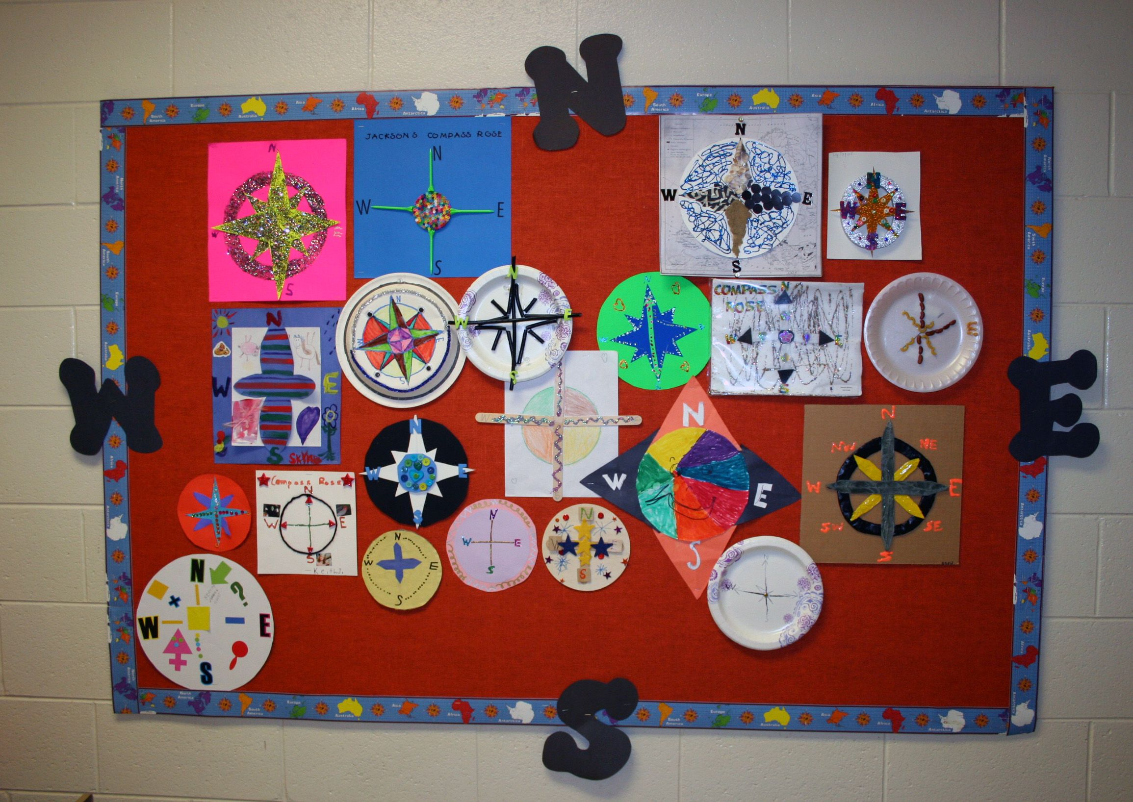 2nd Grade Compass Rose Project