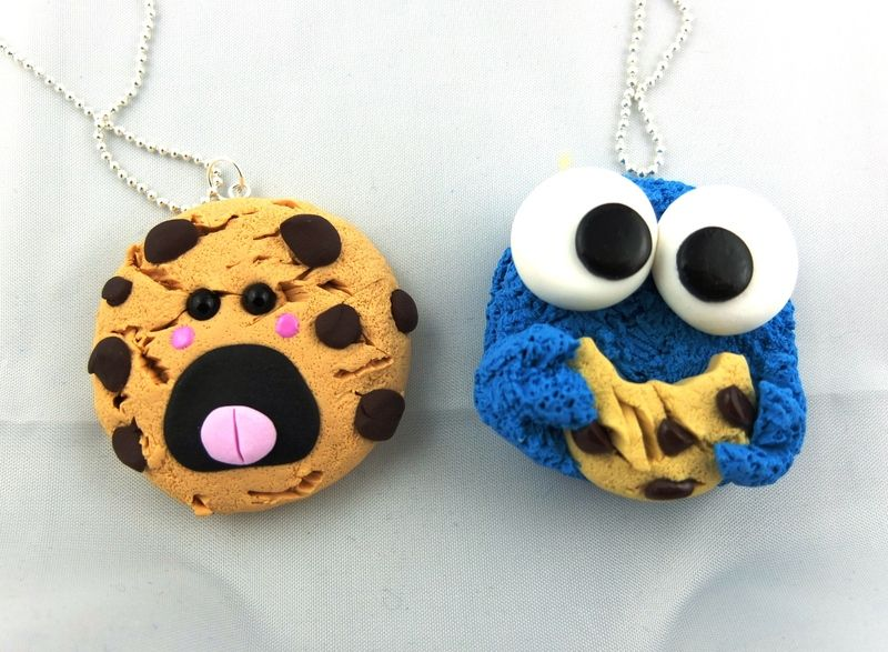 Oh Gott wie süß! :) BEST FRIENDS Krümelmonster Cookie Monster Kette