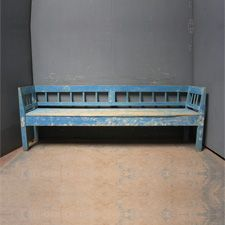 Original Swedish Blue Painted Bench – Benches