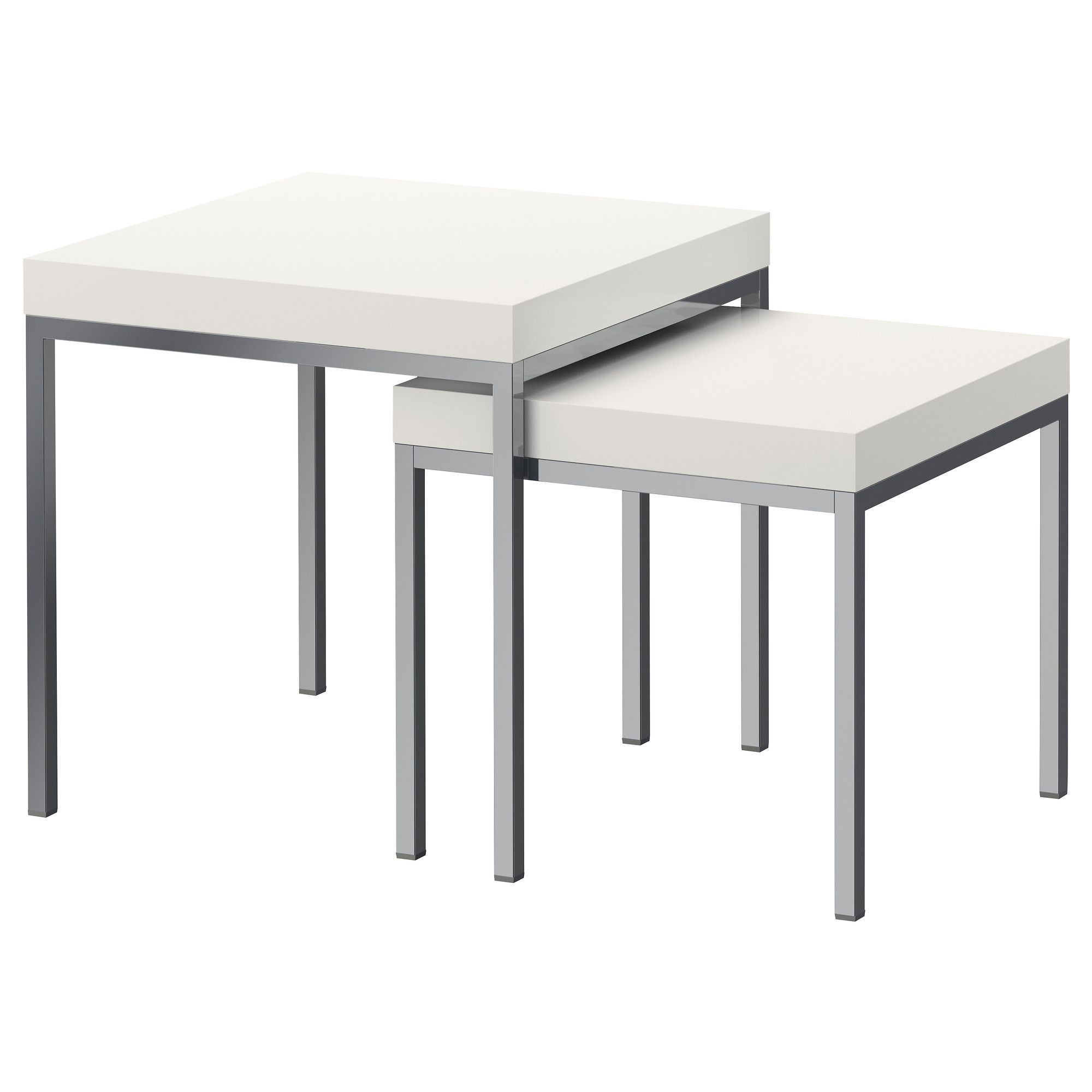 KLUBBO Nest Of Tables, Set Of 2 - White - IKEA