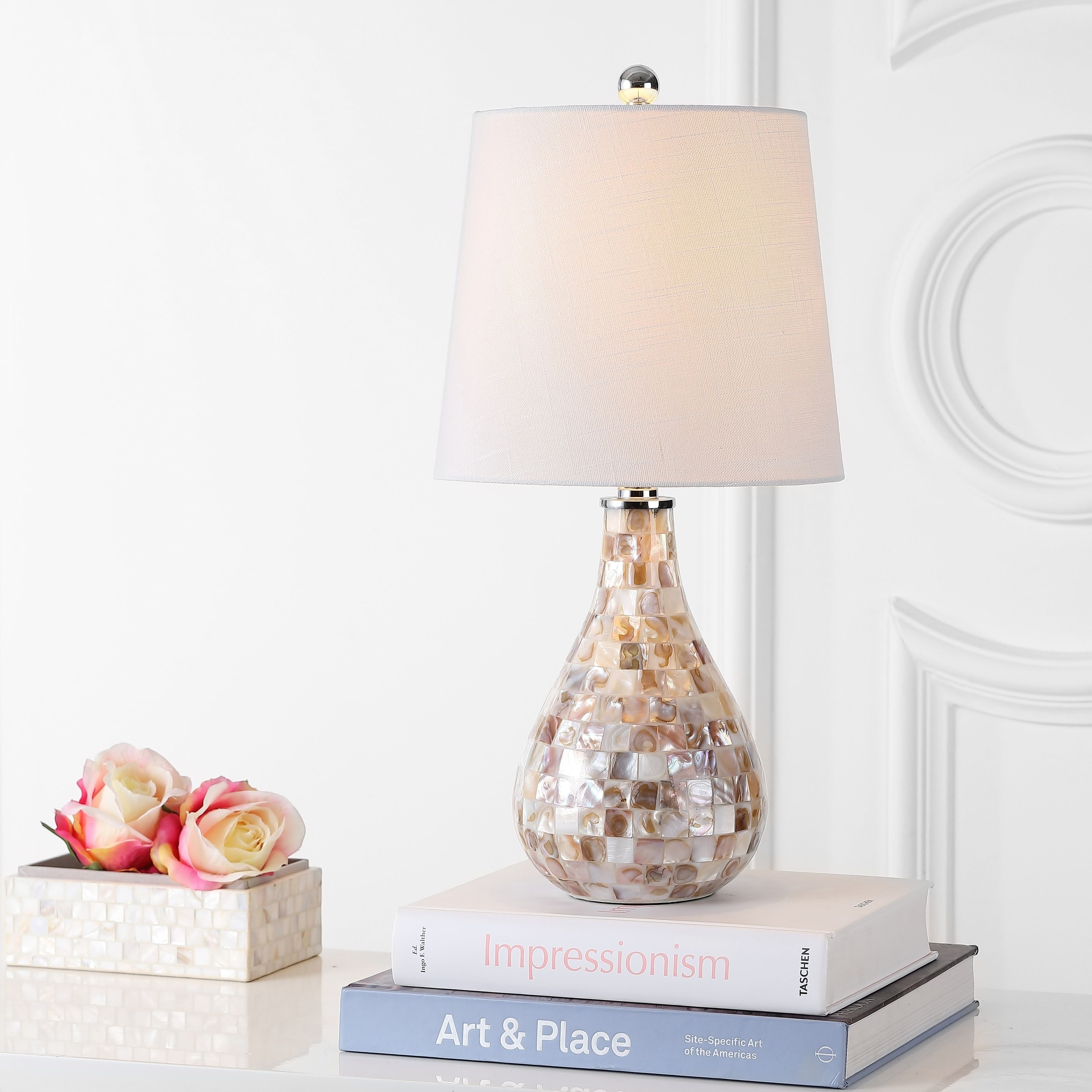 mona 20 5 mini led table lamp seashell by jonathan y multi color rh pinterest com