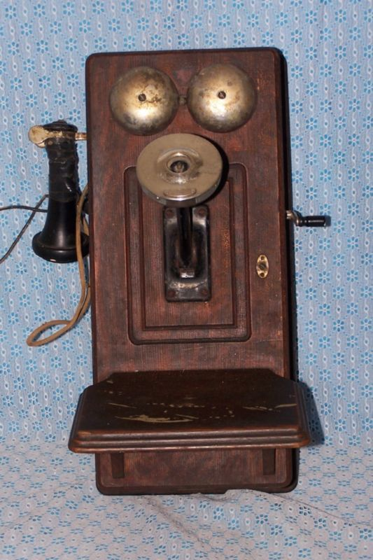 Antique Western Electric Oak Wall Telephone 1800 39 S Antique