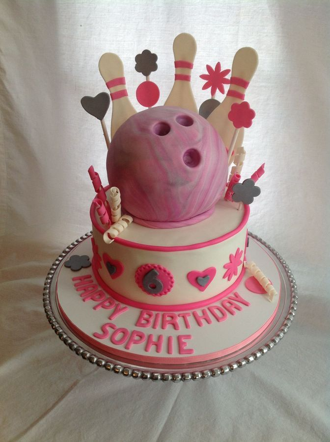 Swell Pink Bowling Cake Bowling Birthday Cakes Themed Cakes Party Cakes Funny Birthday Cards Online Alyptdamsfinfo