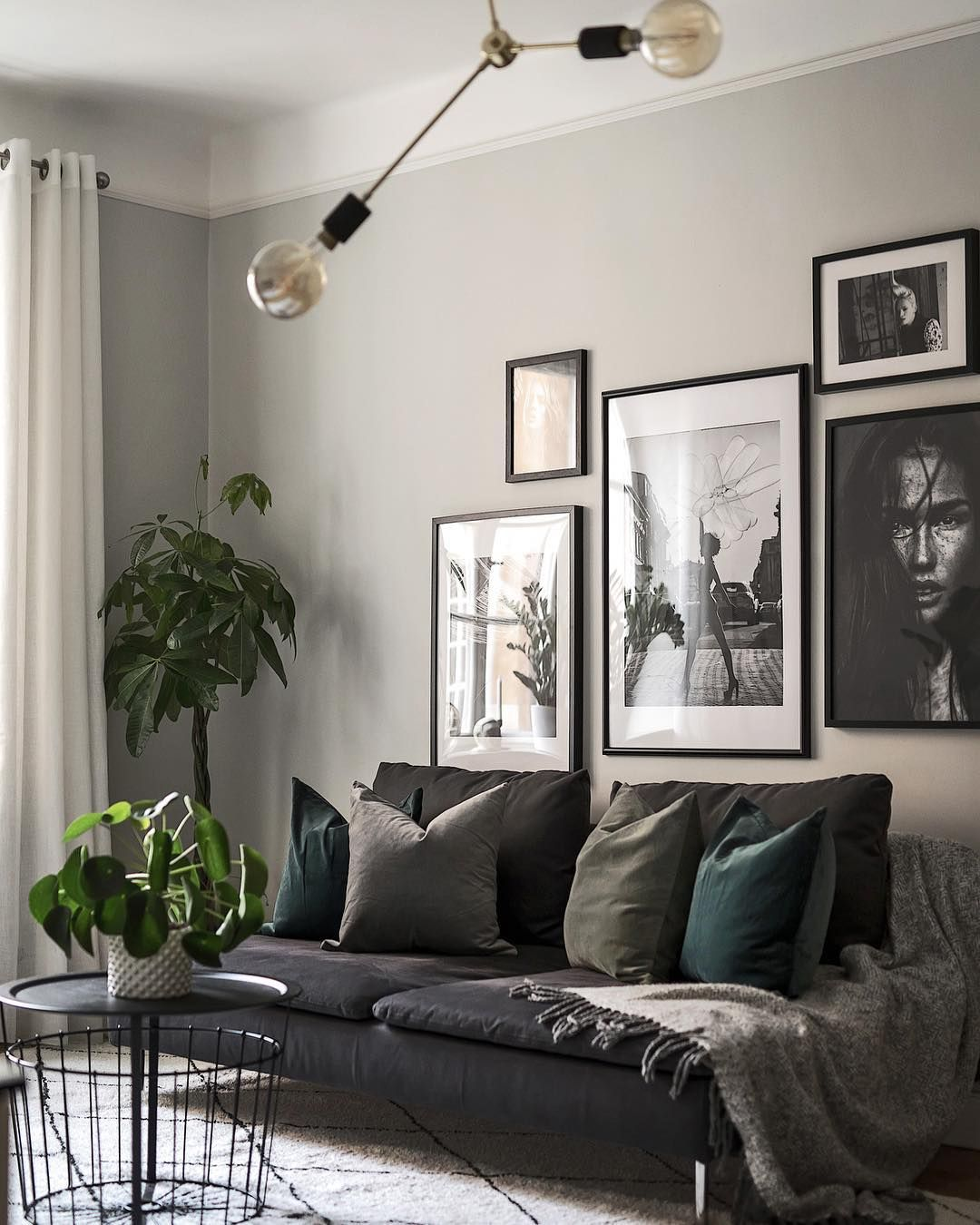Posters From Desenio Desenio Styling Scandinavianhomes Photo Kronfoto Living Room Grey Gray Living Room Design Living Room Green