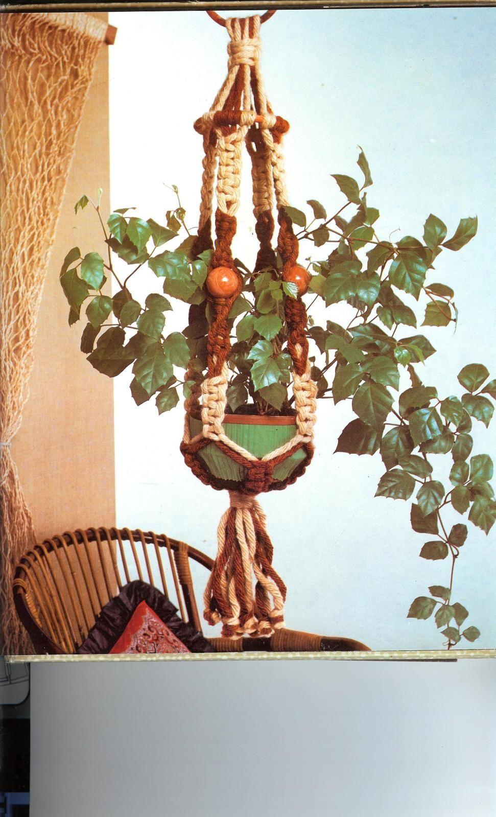 Colgantes en macrame para plantas buscar con google - Colgantes de macrame ...