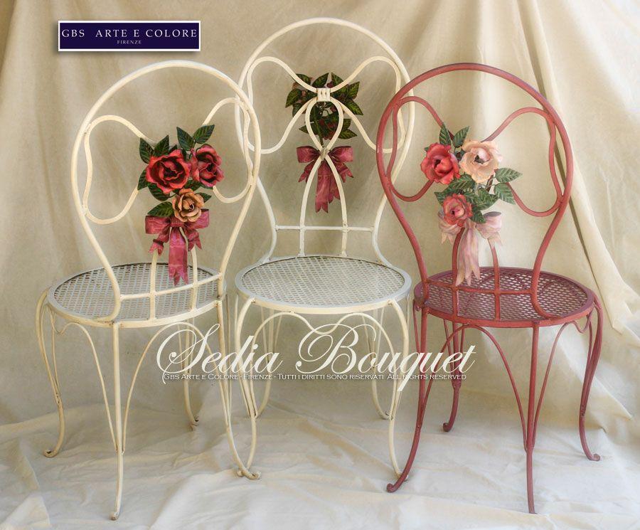 Sedie Bouquet Fiocco e Rose in Ferro battuto http://www.gbsfirenze ...