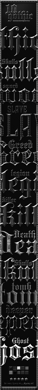 Gothic Dark Metal Photoshop Styles - Text Effects Styles