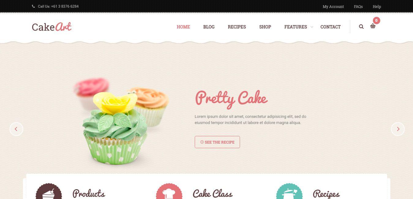Cake Art - Cake WordPress Theme