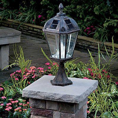 Victorian solar pillar mount lamppost head outdoor lighting victorian solar pillar mount lamppost head aloadofball Image collections