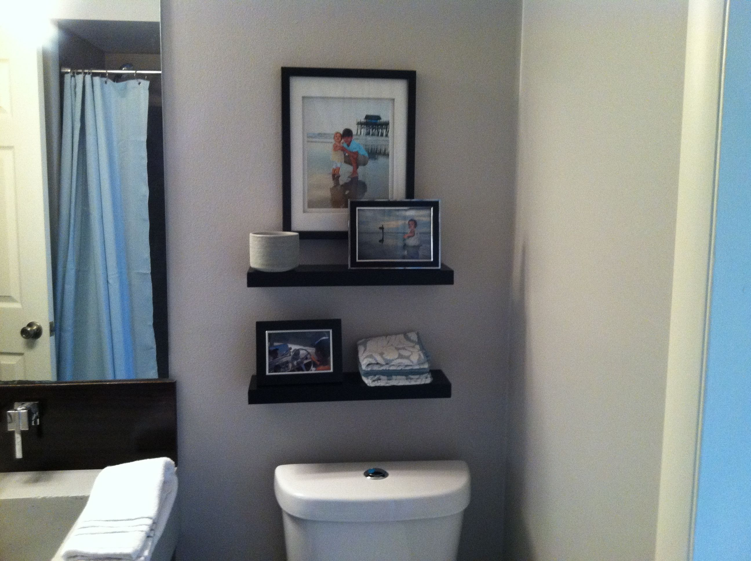 Shelves over toilet in bathroom my pin re do 39 s Over the toilet design ideas