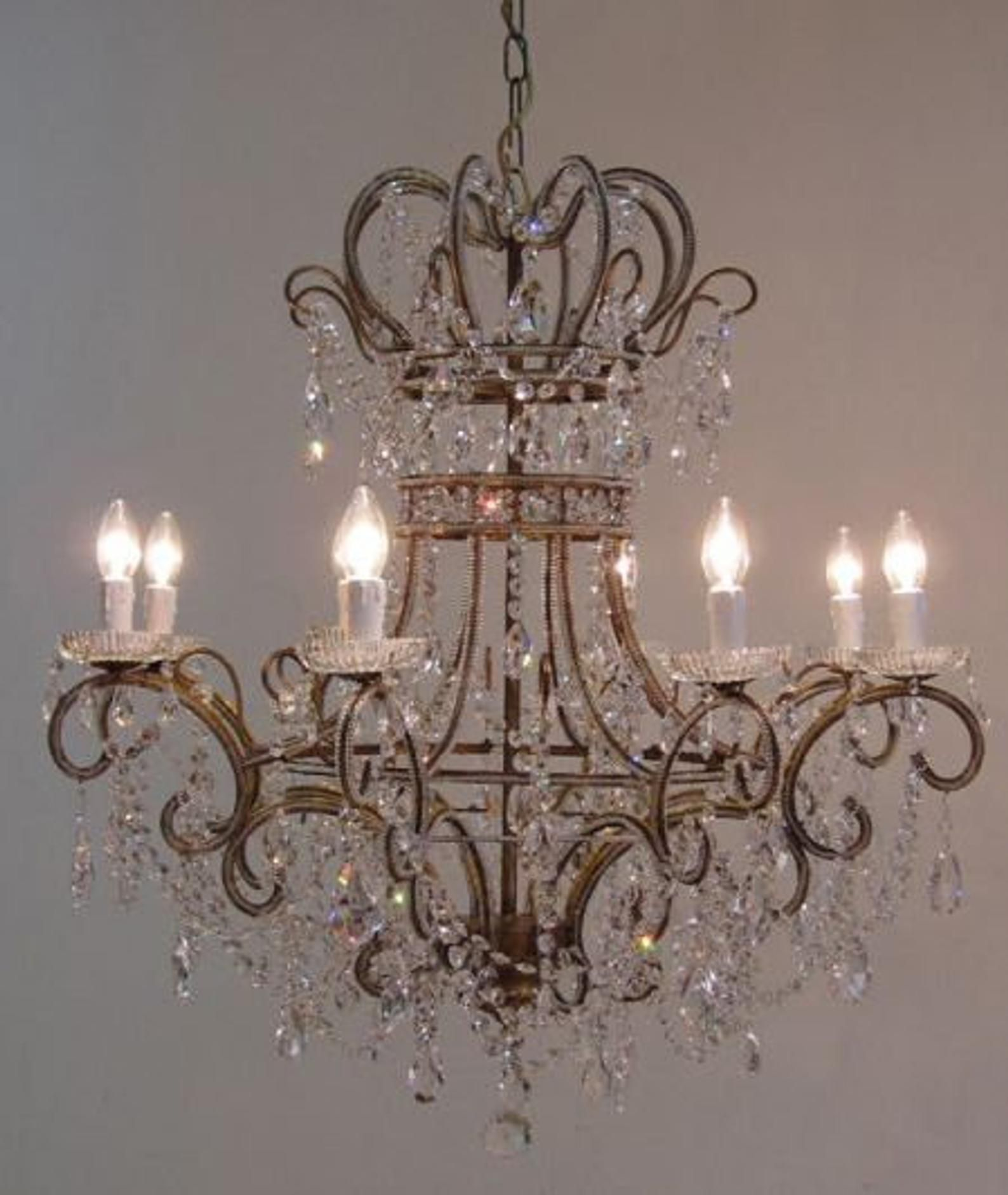 Gorgeous 8 Lights Beaded Crystal Chandelier Bohemian Crystals