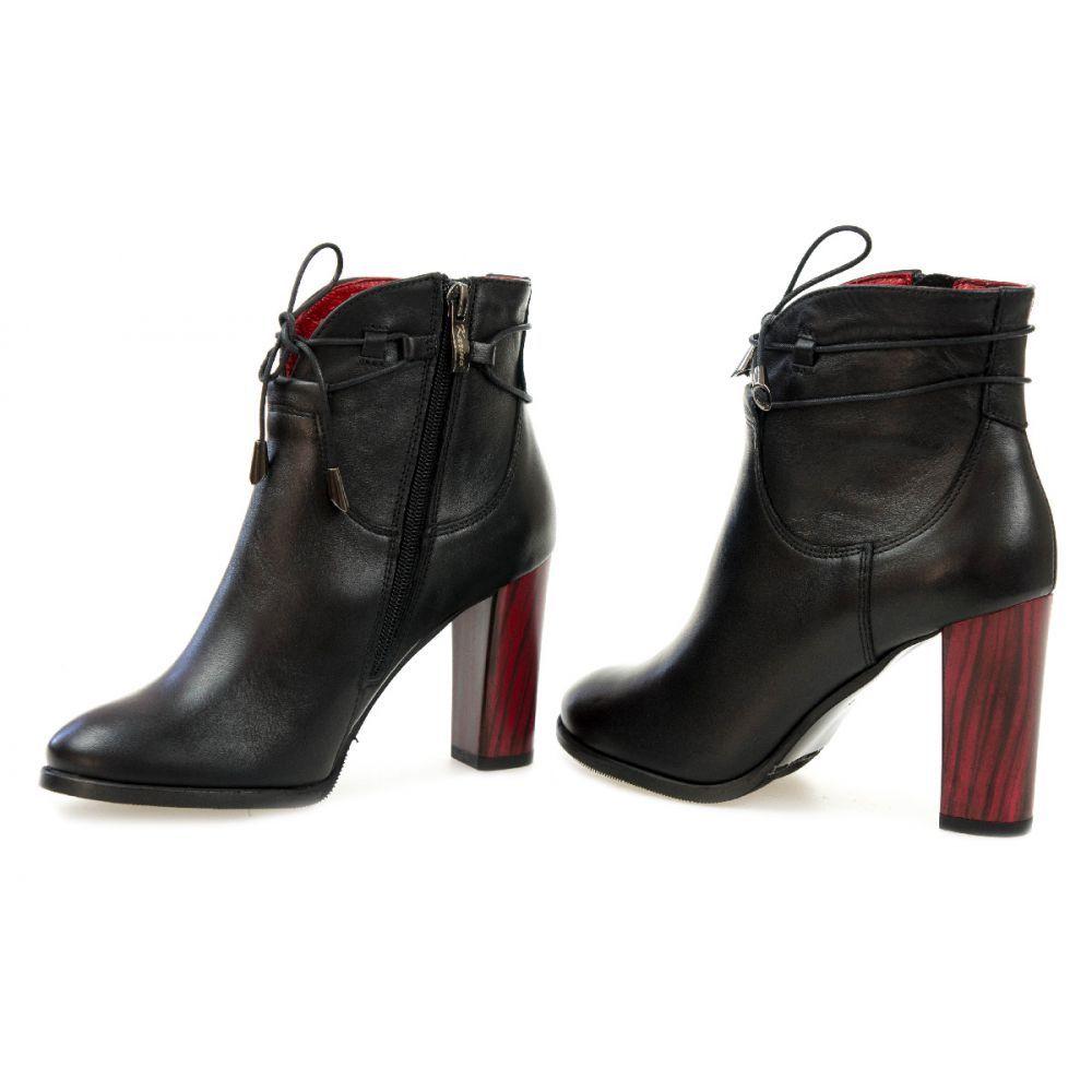 Ekskluzywne Botki Czarne Najlepszebuty Ankle Boot Shoes Boots