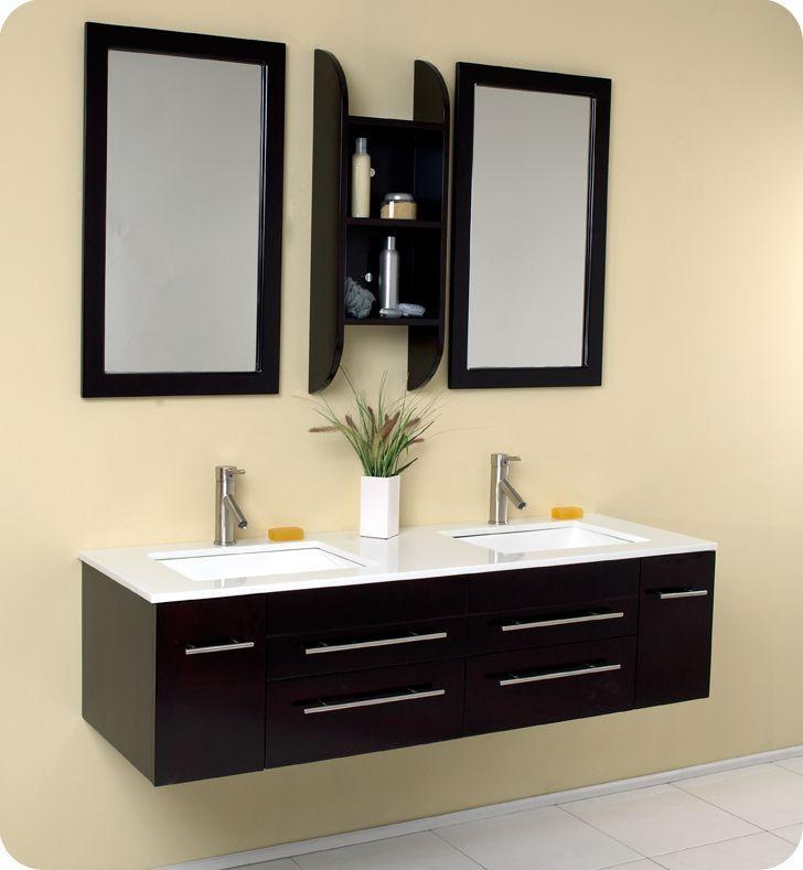 Bellezza 59 inch W 4 Drawer 2 Door Wall Mounted