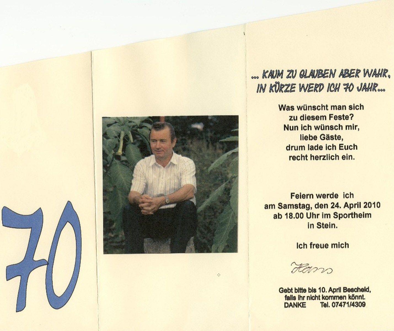 Einladungskarten 70 Geburtstag Einladung 70 Geburtstag