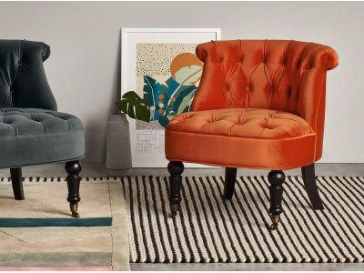 bouji accent chair flame orange velvet orangeaccentchair kids rh pinterest com