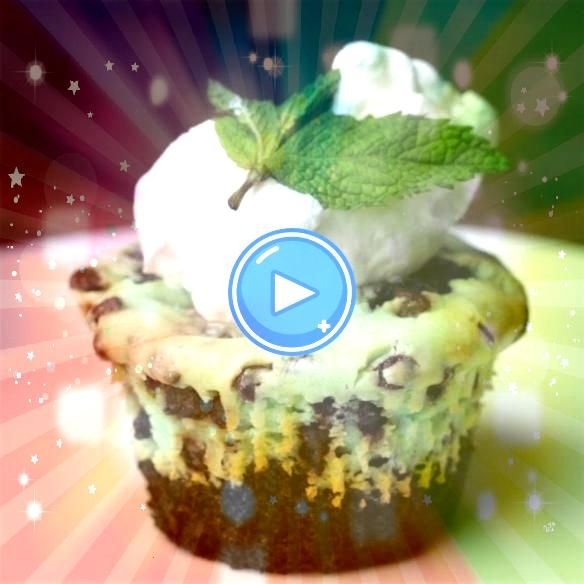 Brownie Cups Mint Chocolate Chip Cheesecake Brownie Cups Recipe by Tasty  I could readily adapt with GF brownie batterMint Chocolate Chip Cheesecake Brownie Cups Recipe b...
