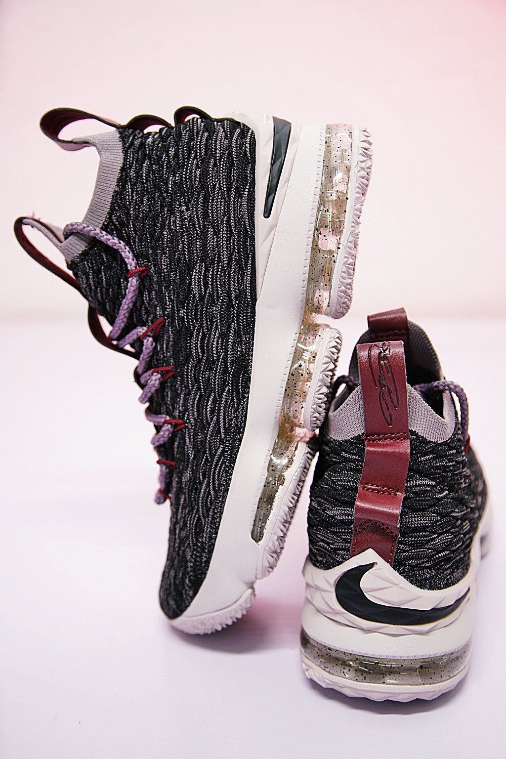 b4e6fcb6944 NIKE LEBRON 15 XV EP BLACK TAUPE GREY TEAM RED 897649 003  dame  uncledrew