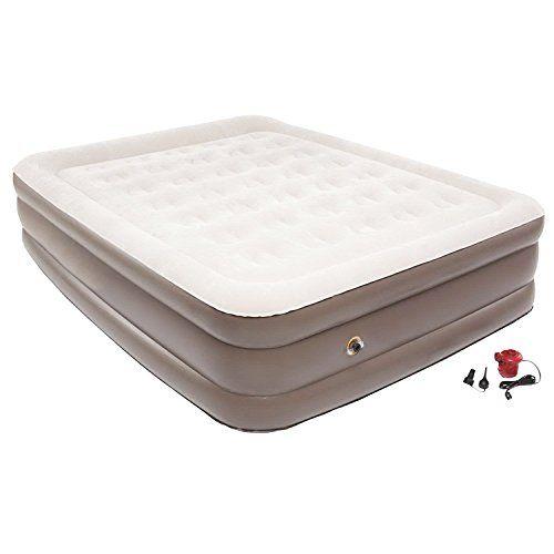 air mattress this raised blow up airbed electric air pump rest rh pinterest com