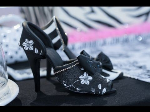 Video de arte en azucar   Zapatos y cartera