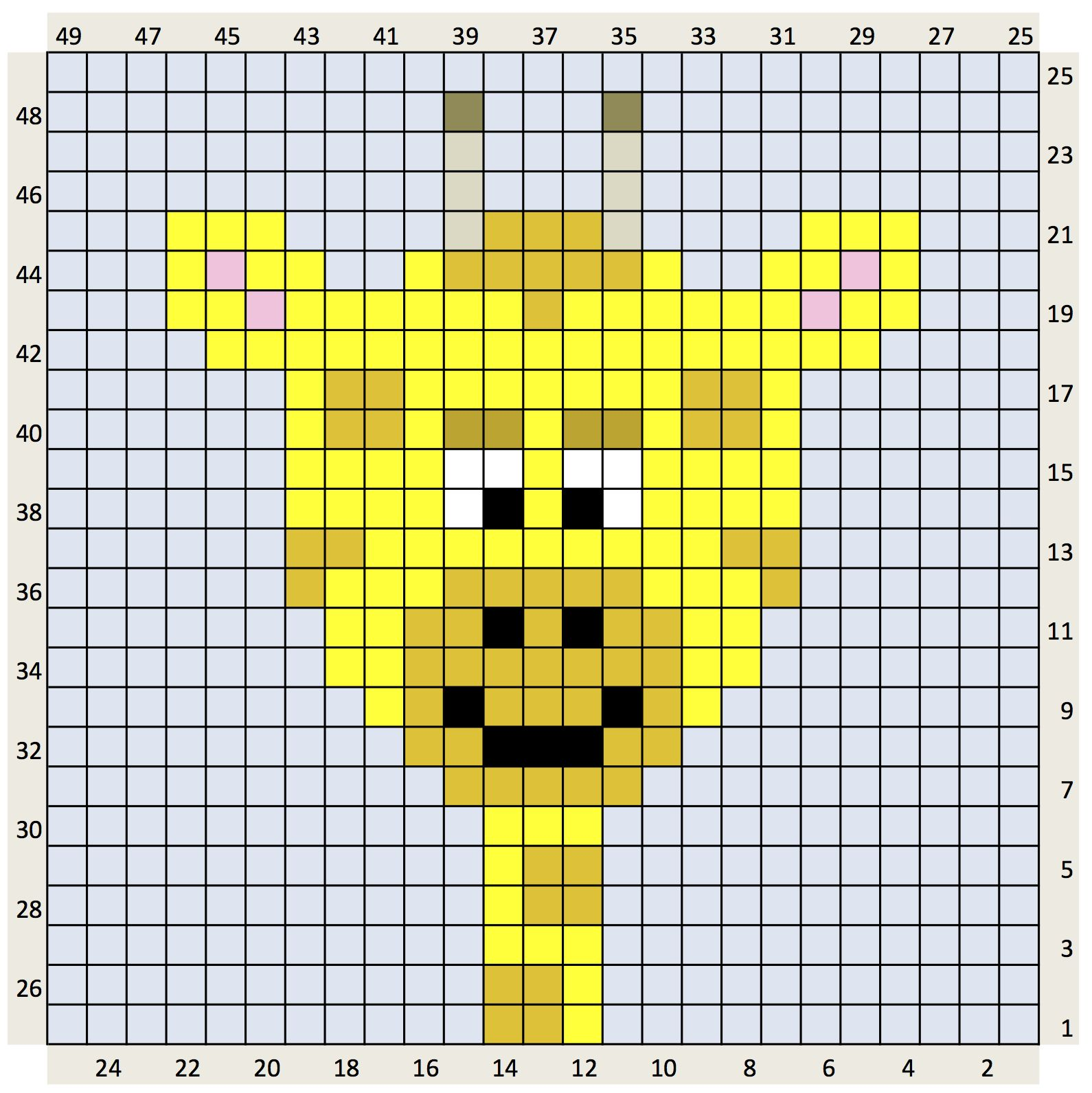 The craft co crochet charts crochet graph patterns for pixel crochet charts bankloansurffo Image collections