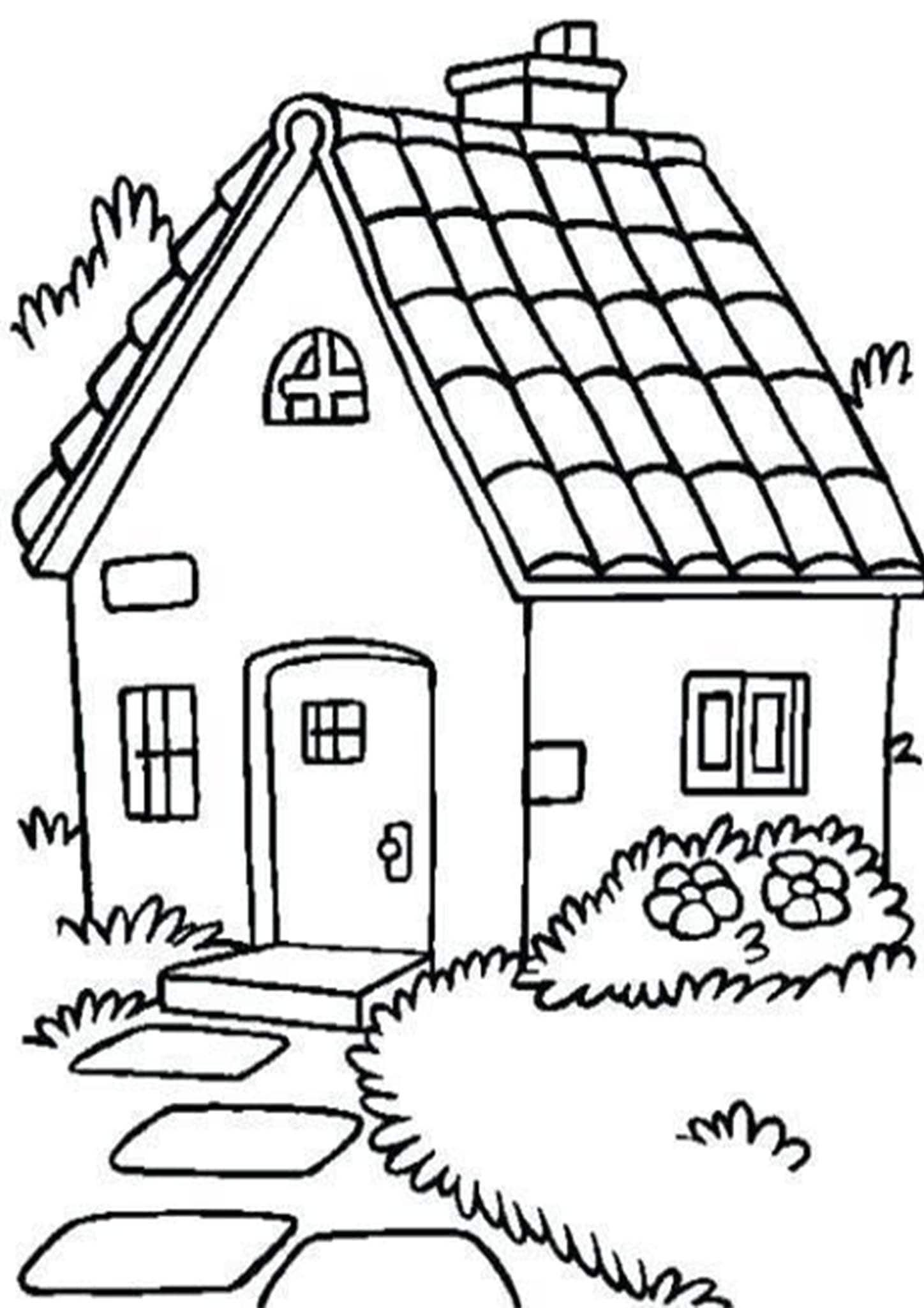 Free Easy To Print House Coloring Pages House Coloring Pages Coloring Pages House Colouring Pages