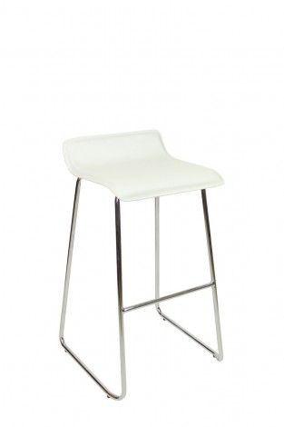 Baceno Fixed Height Curved Bar Stools White  863bb0947a