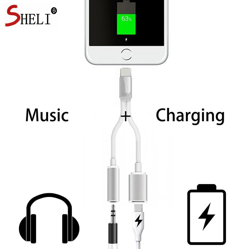 New 3 5 Mm Headphone Jack Adapter For Iphone 7 Plus 6 6s Plus 2 In 1 Earphone Charger Original Quality Electronics Workshop Electronics Hacks Electronics Apple