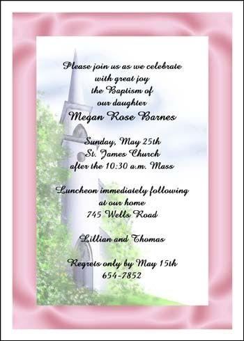 Girl Invitation Wordings for Baptism Ceremony Invites Religious