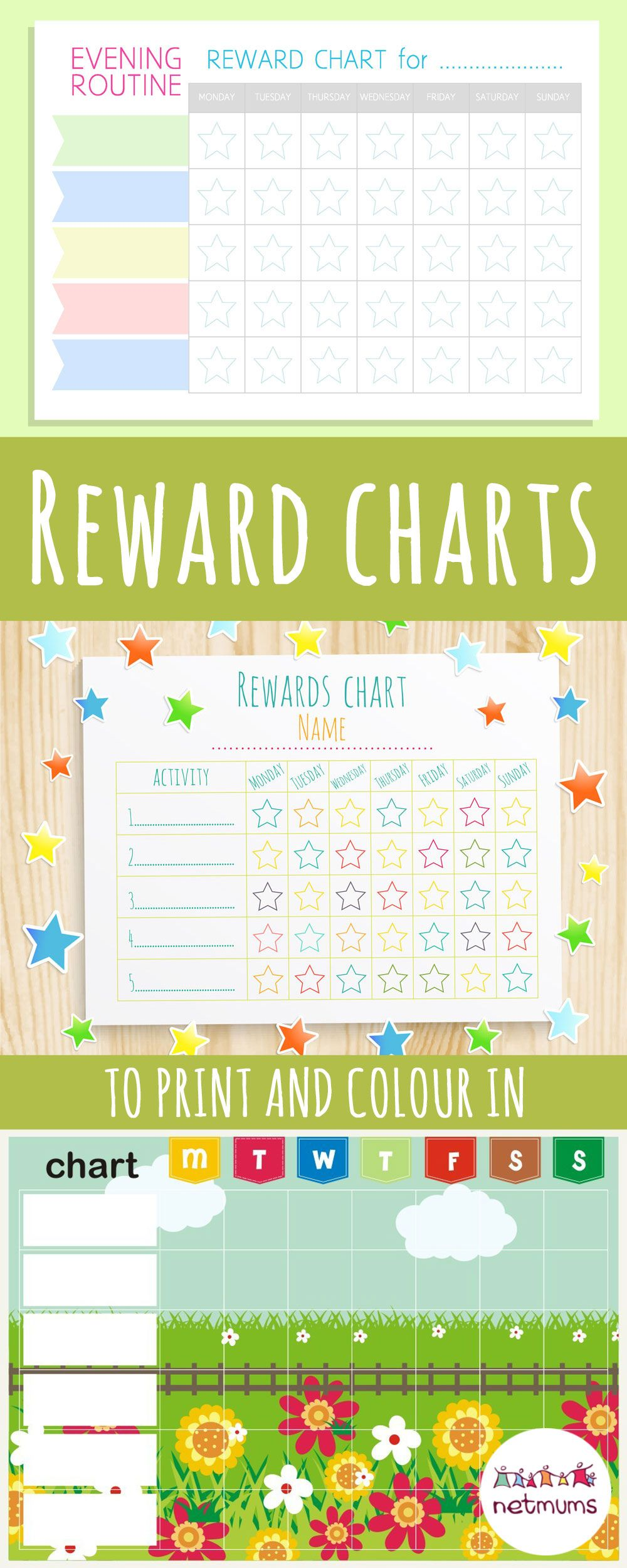 Colouring in reward charts - Reward Charts To Print And Colour In