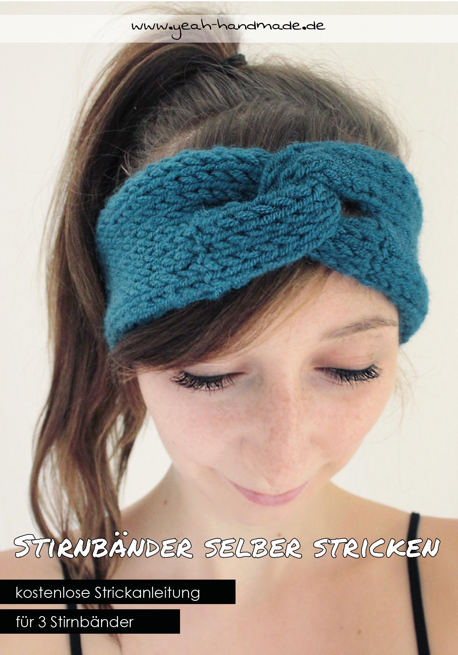 DIY Stirnband selber stricken – Anleitung für 3 verschiedene ...