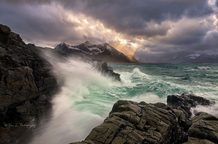 Storm on the Sea by Yan L