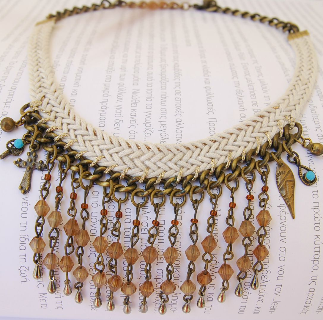 Seed Beaded Necklace Festival Necklace Statement Long Gold Necklace Chunky Necklace Statement Boho Modern Necklace Boho Jewelry