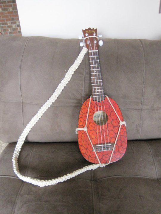 Cool Diy Strap Design For Pineapple Uke Uke Ukulele