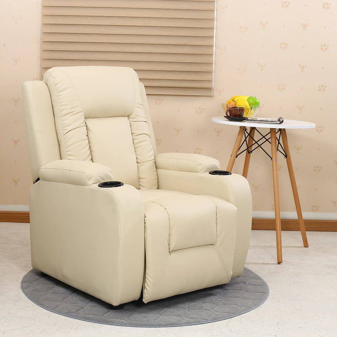 oscar leather recliner w drink holders armchair sofa chair reclining rh pinterest com