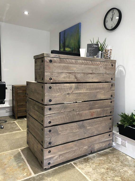 reception desk reclaimed wood industrial rustic office front rh pinterest com