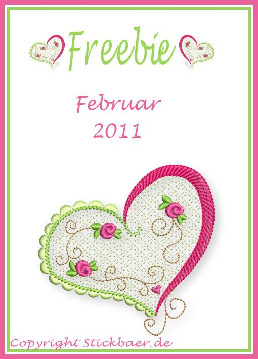 Valentinstag | Stickdatei | Embroidery designs, Sewing ...