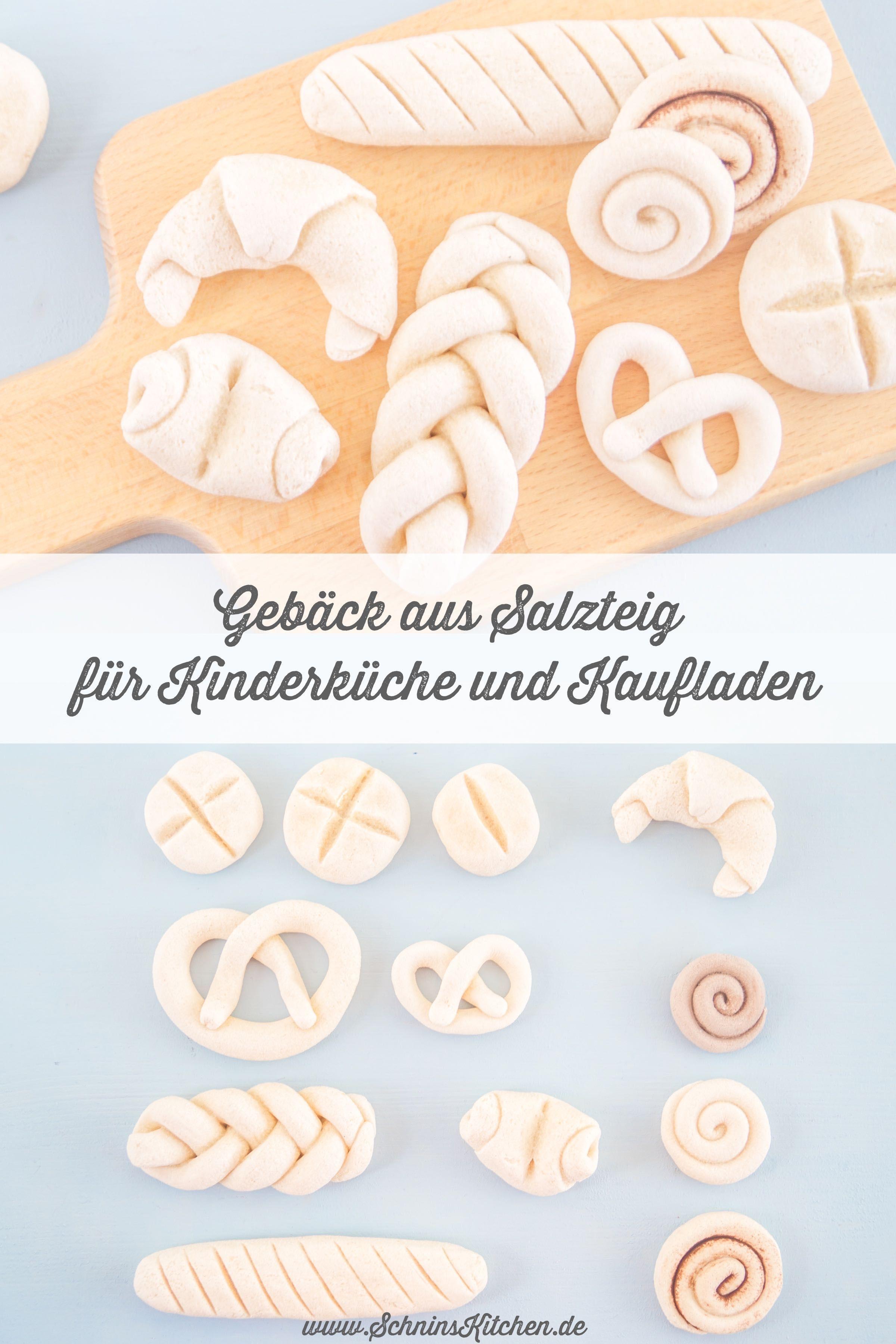 Gebäck aus Salzteig für Kinderküche und Kaufladen | Schnin\'s Kitchen ...
